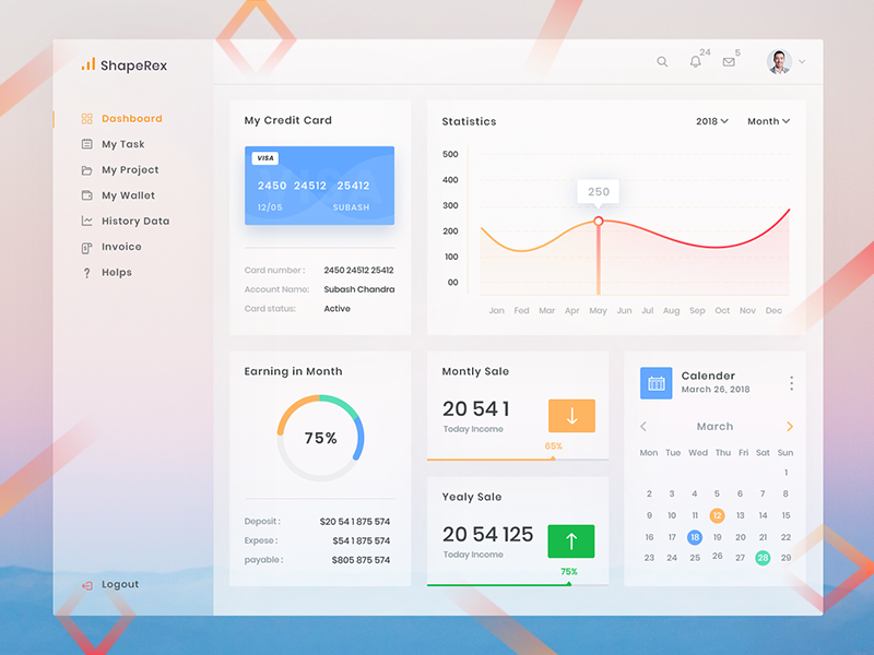 Dashboard Design preview picture