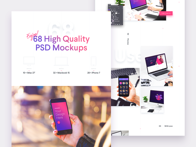 High Quality PSD Mockups preview picture