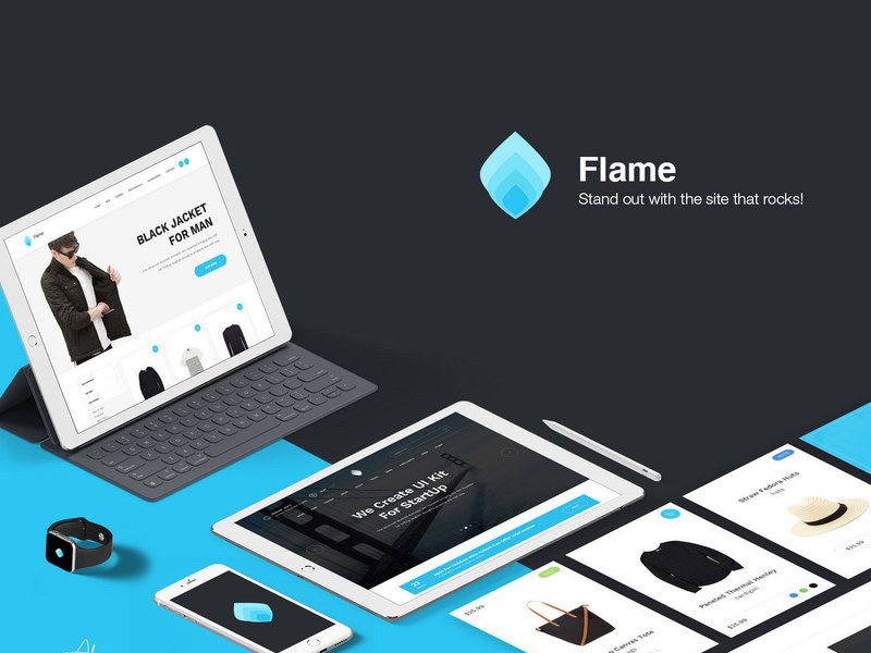 Flame Free UI Kit preview picture