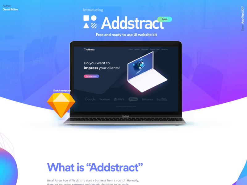Addstract | Free UI kit