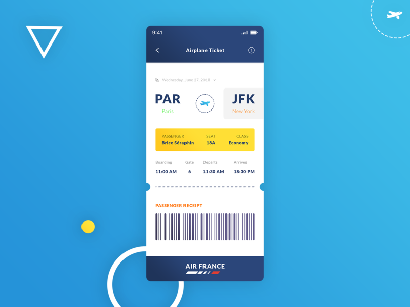 Airplane Ticket iOS App