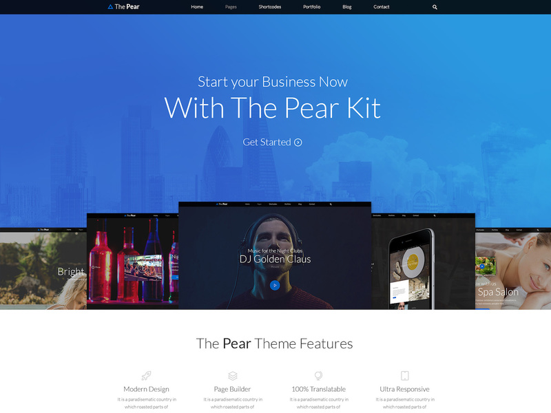 Pear - Landing Page Template