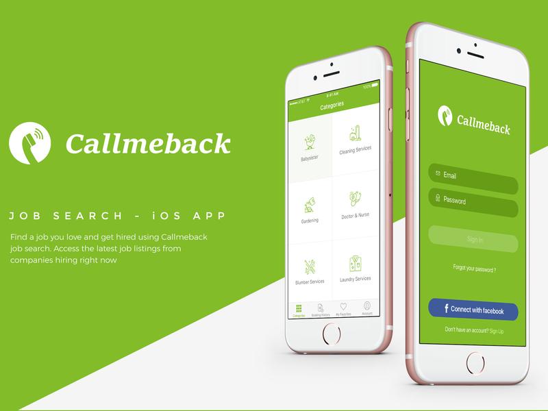 Callmeback -  UI Design for Job Search preview picture