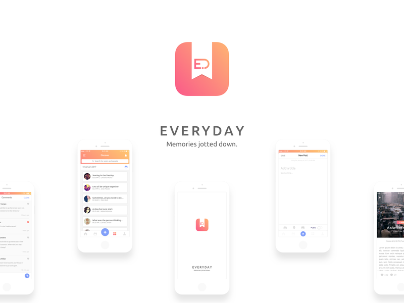 Everyday iOS Journal App UI Kit preview picture