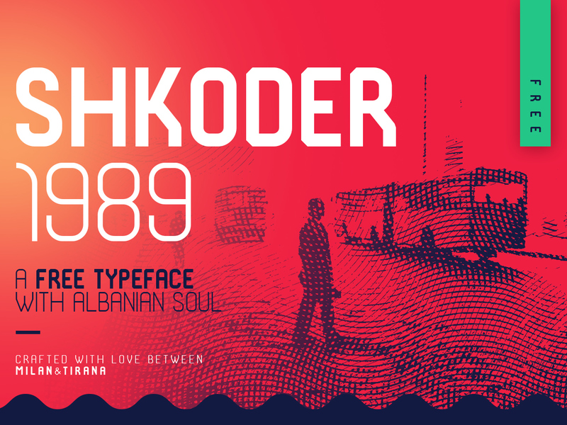Shkoder 1989 – Free Font preview picture