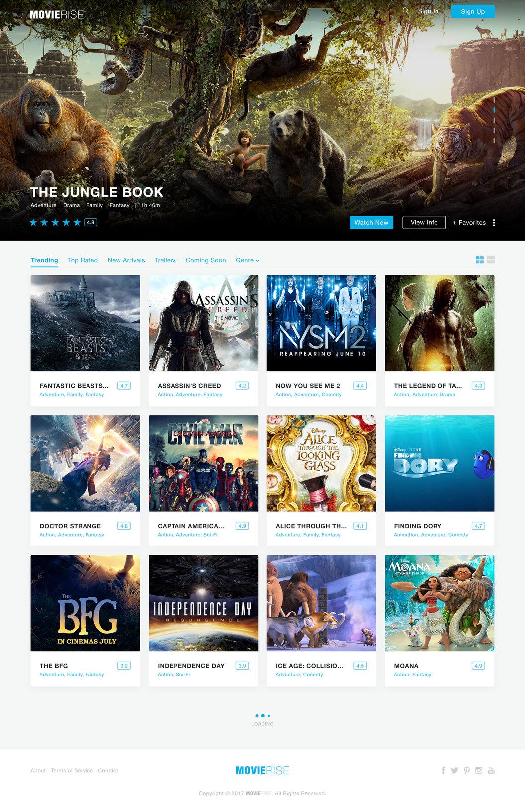 MovieRise - Movie Database Website