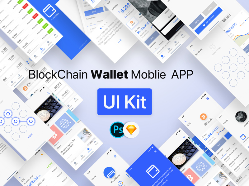 Blockchain Wallet Moblie APP UI Kit preview picture