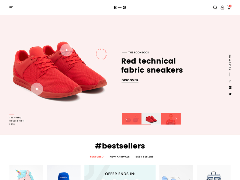 BOSCO – Responsive E-commerce PSD Template preview picture