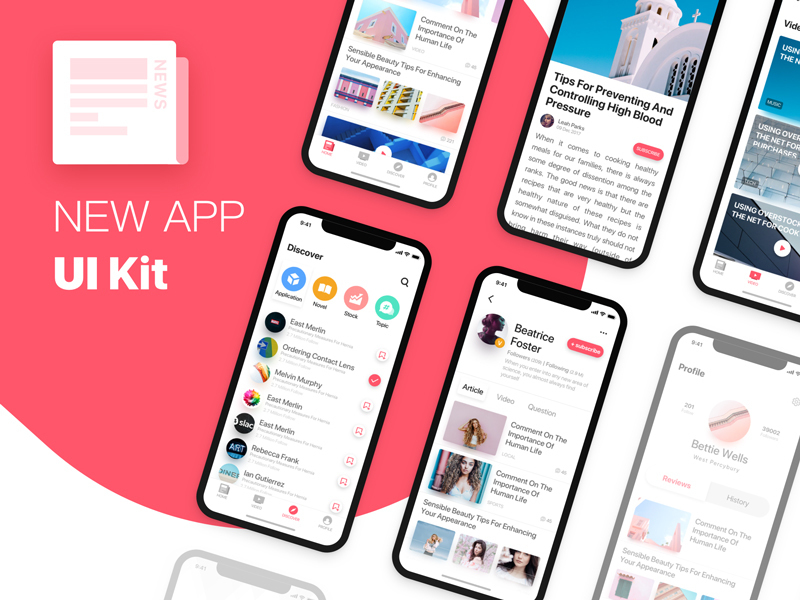 News APP UI Kit preview picture