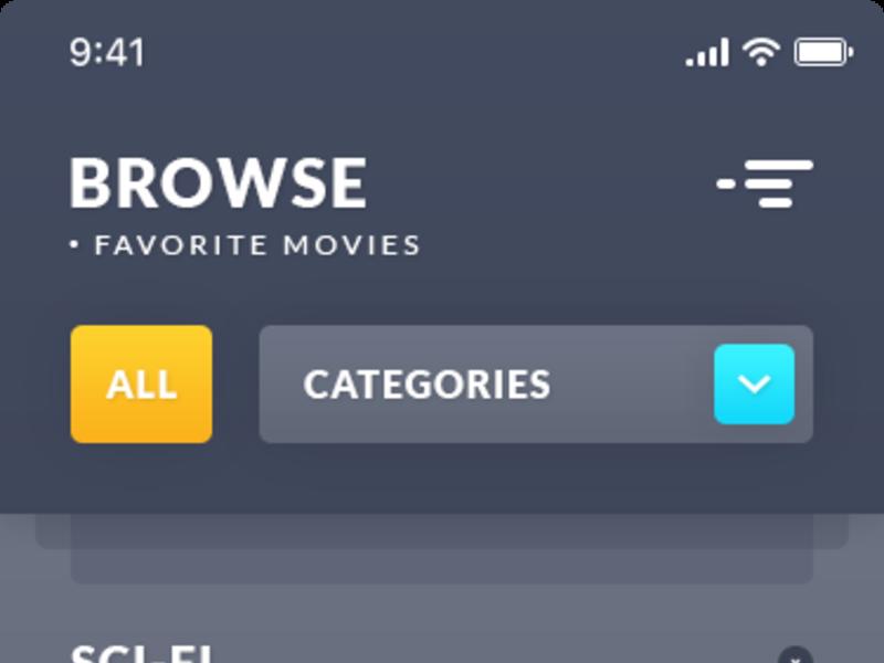 Browse Movies. iOS App