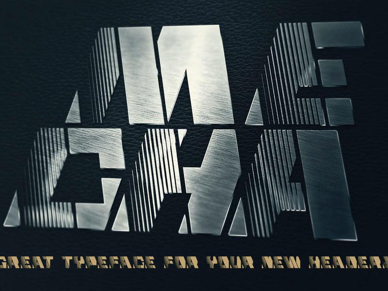 Mecha Grunge - Free Font