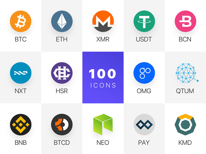 100 Blockchain Assets Icons - Freebies
