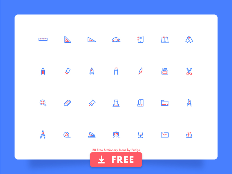 28 Free Stationery Icon Set preview picture