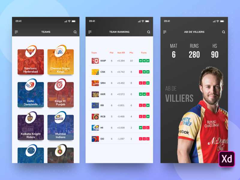 Cricket IPL App XD Freebie preview picture