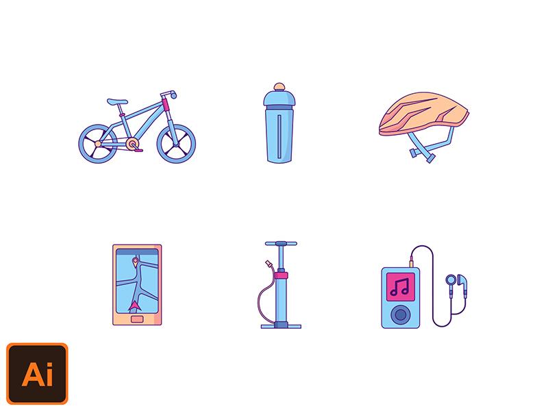 Cycle Sport icon set Freebie