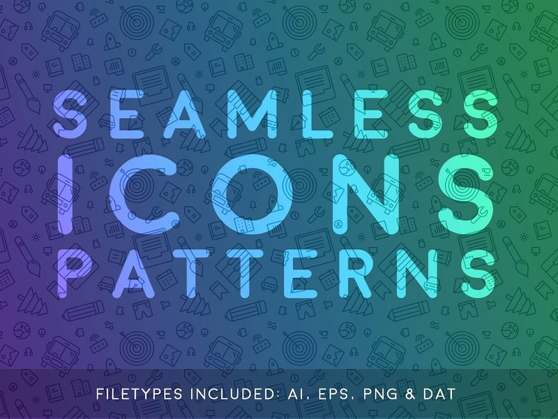 Seamless Icons Patterns preview picture
