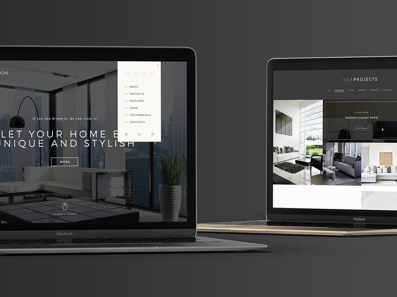 MyRoom - Interior Design PSD Template