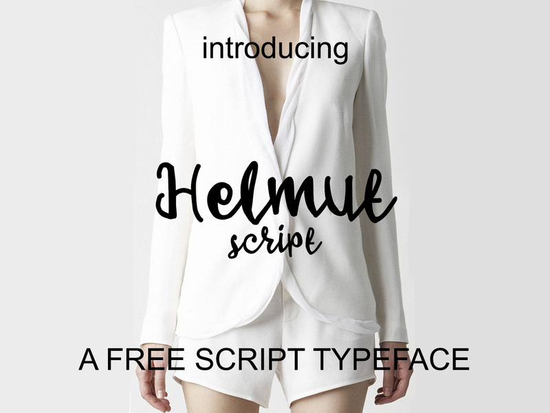 Helmut - free script typeface preview picture