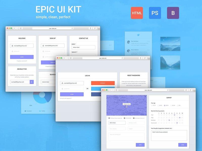 Epic UI Kit + Bootstrap Theme