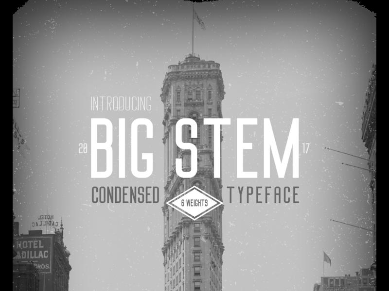Big Stem - Free Typeface | Font