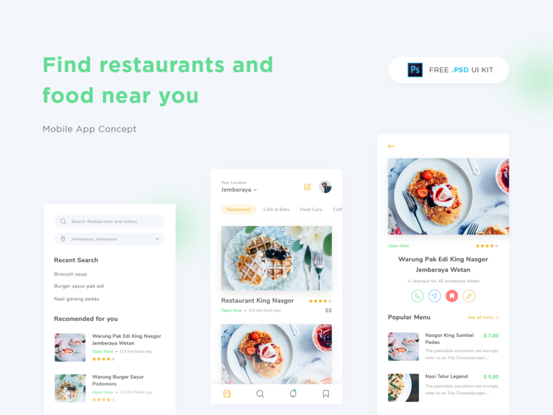 Restaurant App Design UI Kit