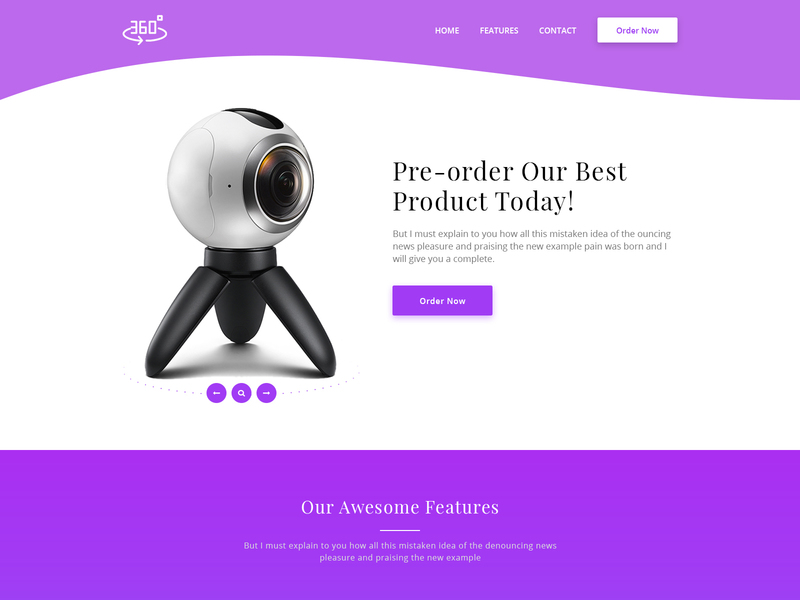 360 Degree Product Landing Page