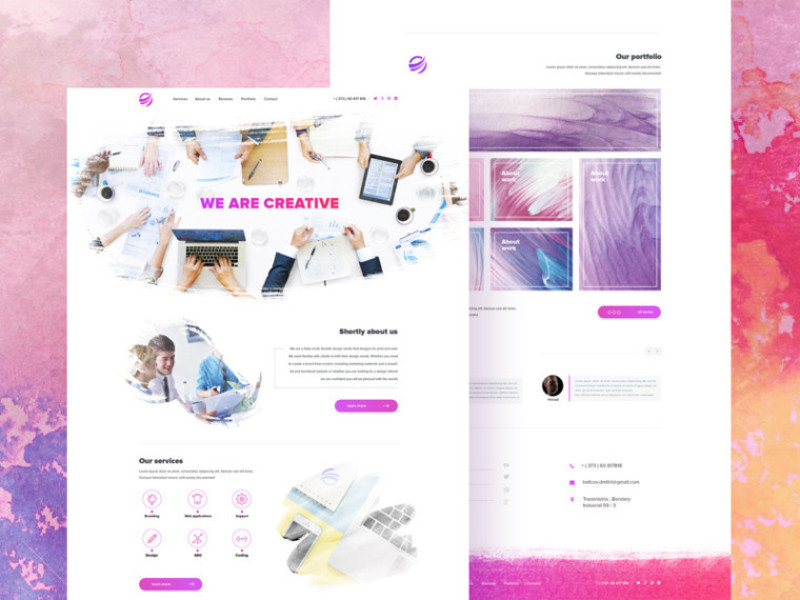 Creative Watercolor Inspiration Template