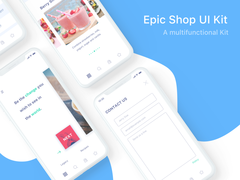 Epic Shop UI Kit preview picture