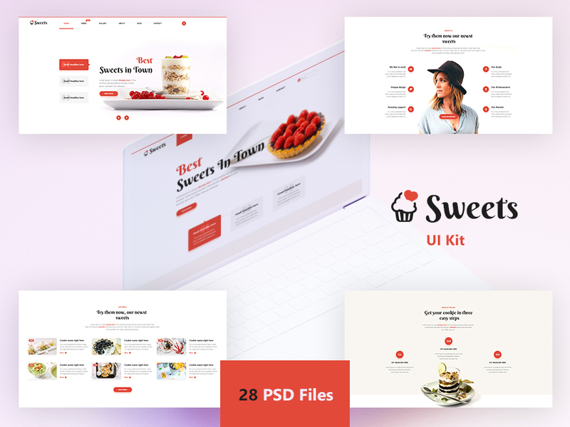 Sweets UI Kit preview picture