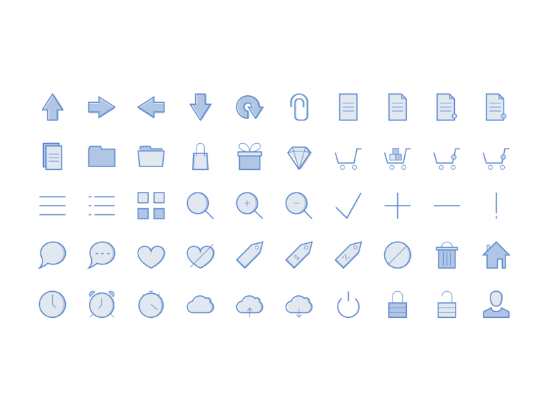 Web Icons 7 Styles