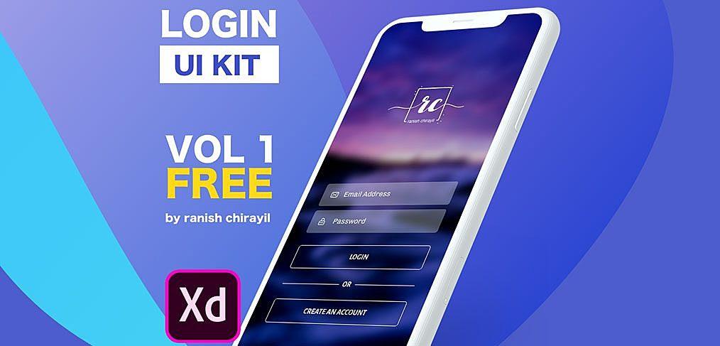App Login Free UI Kit XD