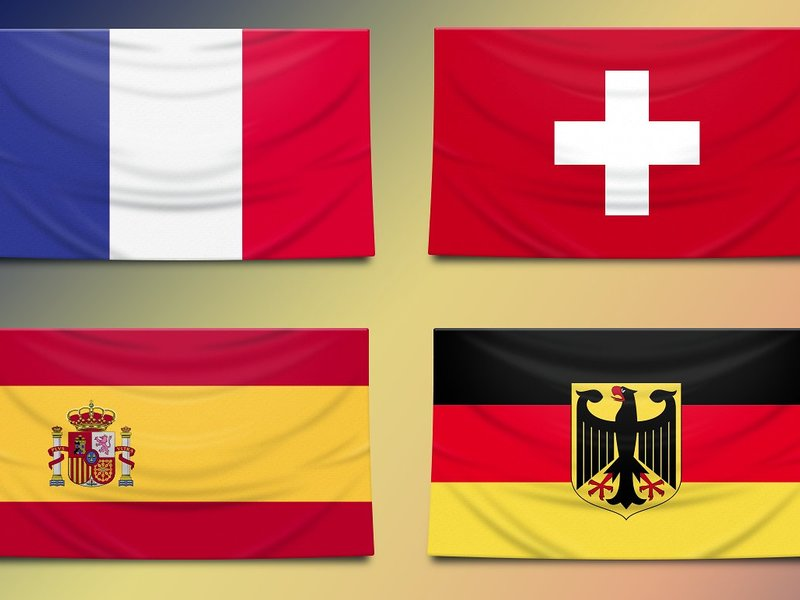 Vectorial country flags 100+