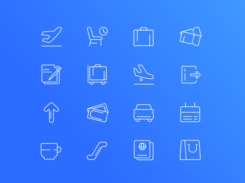Airport related icons