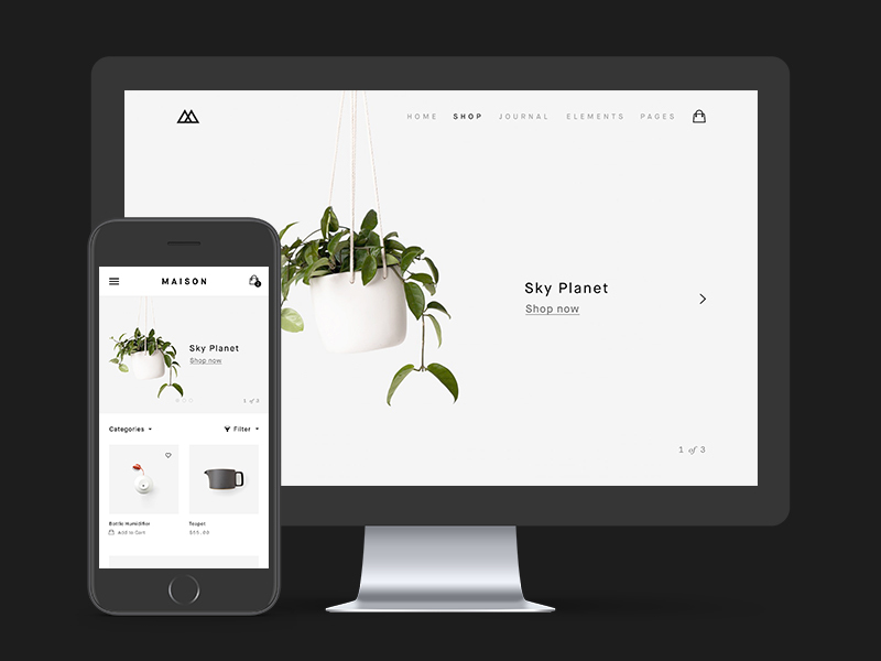 Minimalist eCommerce PSD Template preview picture