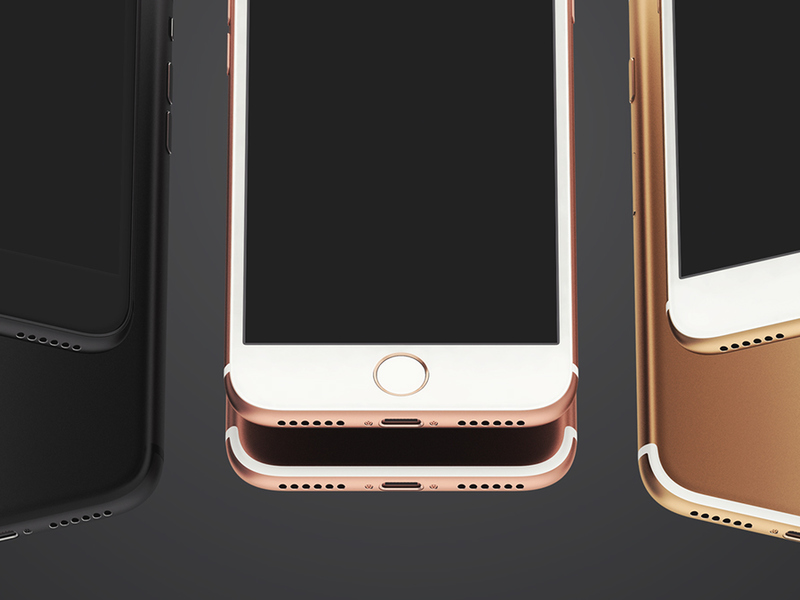 iPhone 7 UI Mockup PSD