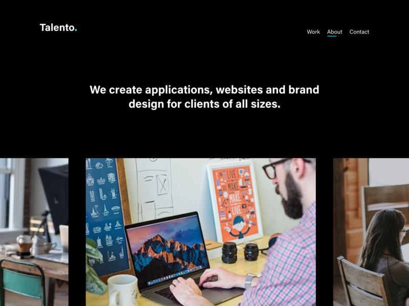 Talento 2.0 - Portfolio Template - Adobe XD