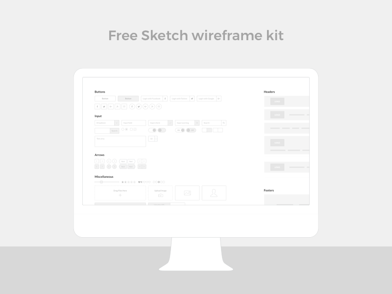 Sketch wireframe kit preview picture