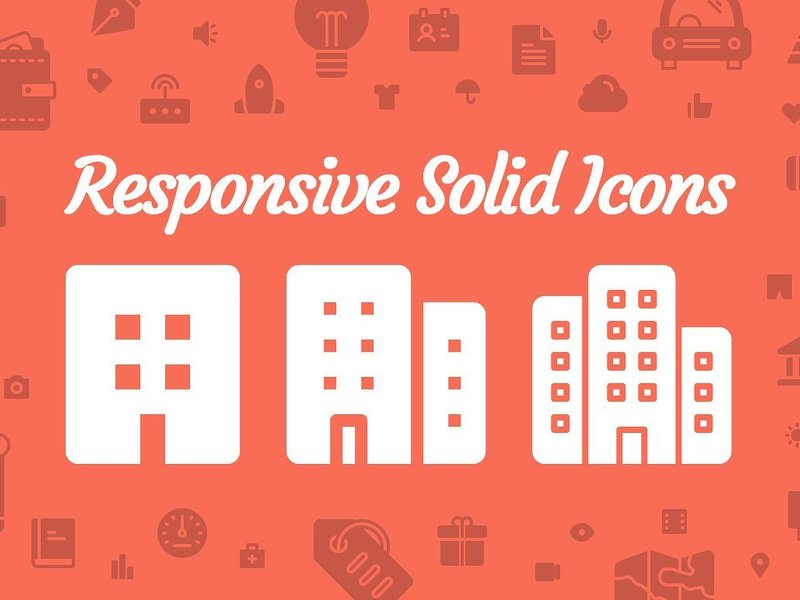 Responsive Solid Icons preview picture