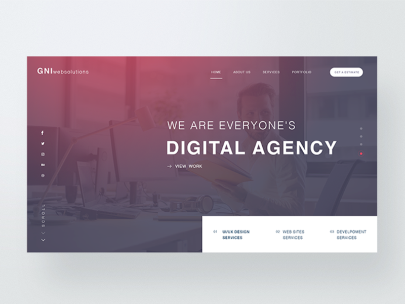 Creative Agency PSD Template  preview picture
