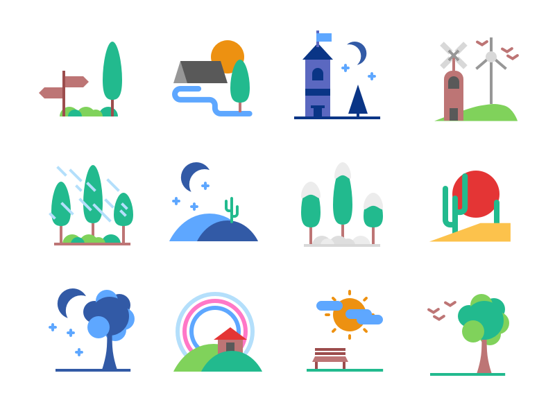 Landscape Icons Freebie preview picture