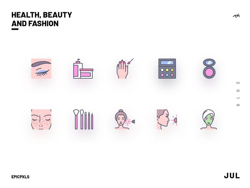 Health Beauty and Fashion Icons