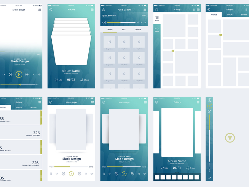 """The Mall"" mobile UI kit"