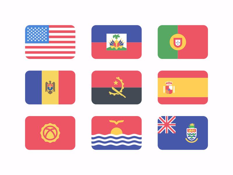 Flat Flags Freebie