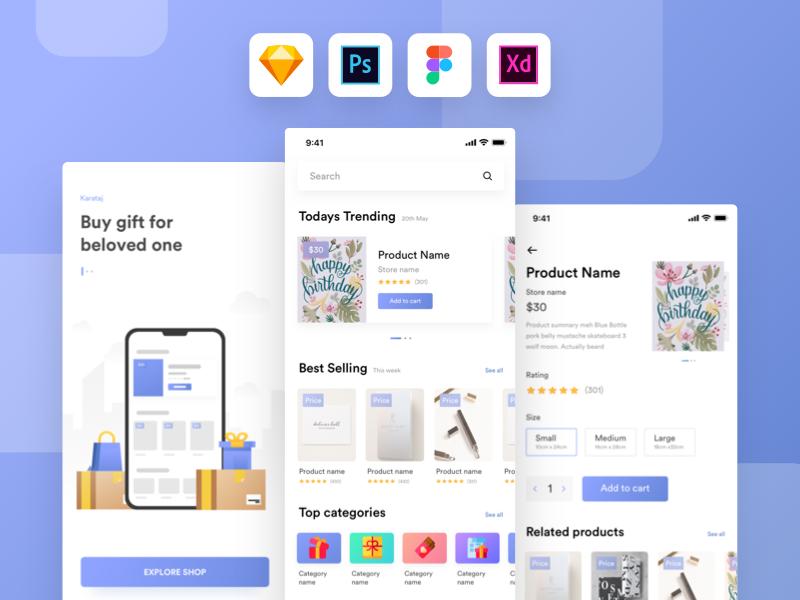 Kamartaj - gift shop UI kit preview picture