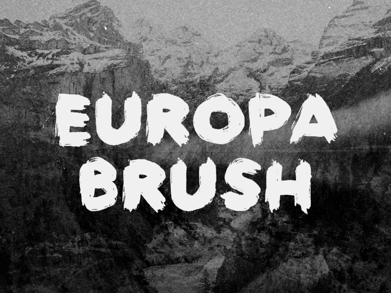 Europa Brush — FREE Textured Brush Font preview picture