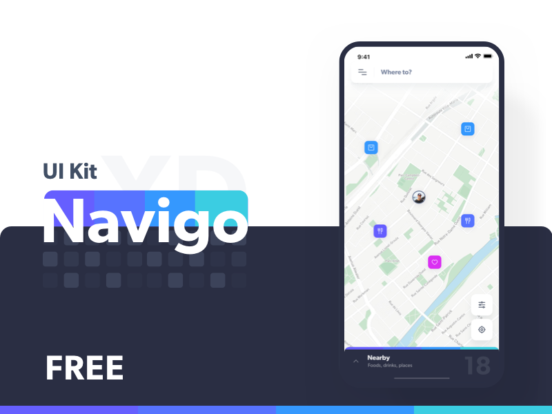 Navigo free iOS UI kit  preview picture