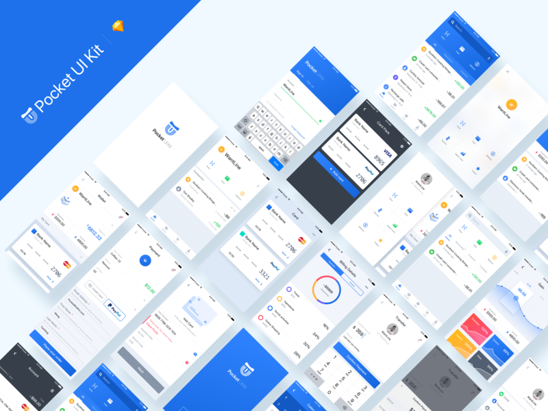 Pocket UI Kit Fintech App
