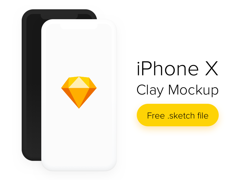 iPhone X Clay Mockup preview picture