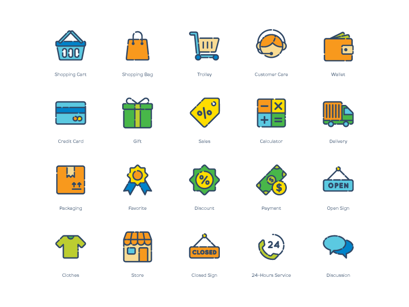 Shopping Icons [AI, EPS, PNG, SVG] preview picture