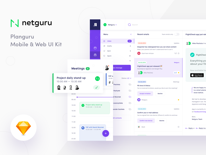Planguru UI Kit Freebie preview picture